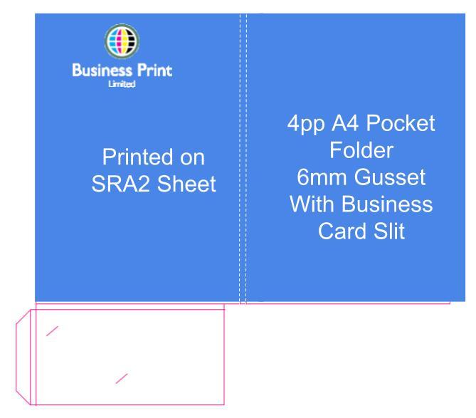 4pp A4 6mm Gusset Presentation Folder