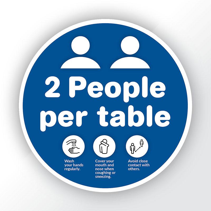 2 People per Table Sticker
