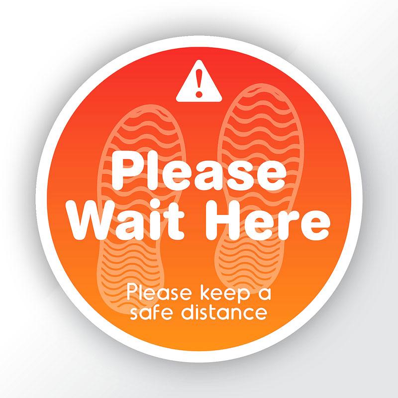 Please Wait Here School Round Sticker