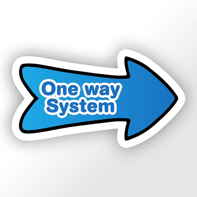 Directional Arrows School Sticker