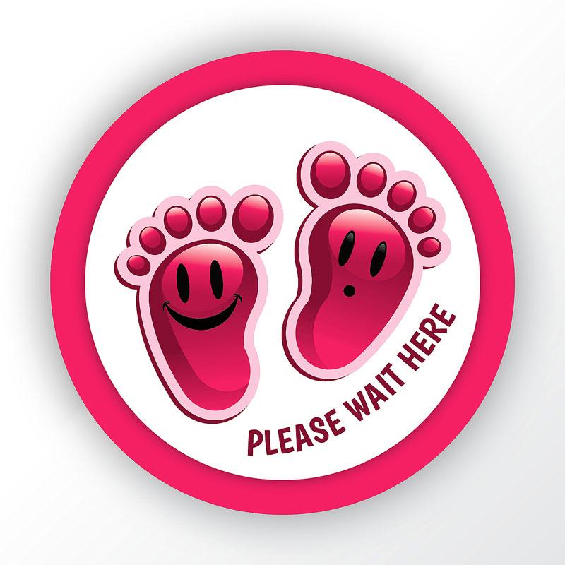 Please Wait Here Creche Round Sticker