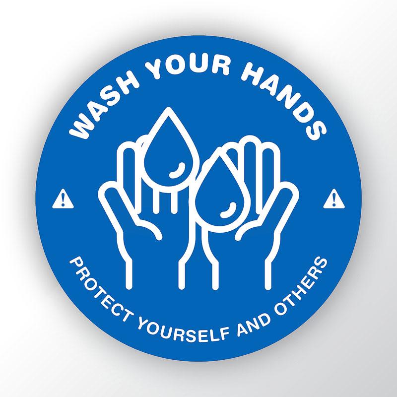 Wash Your Hands Round Sticker