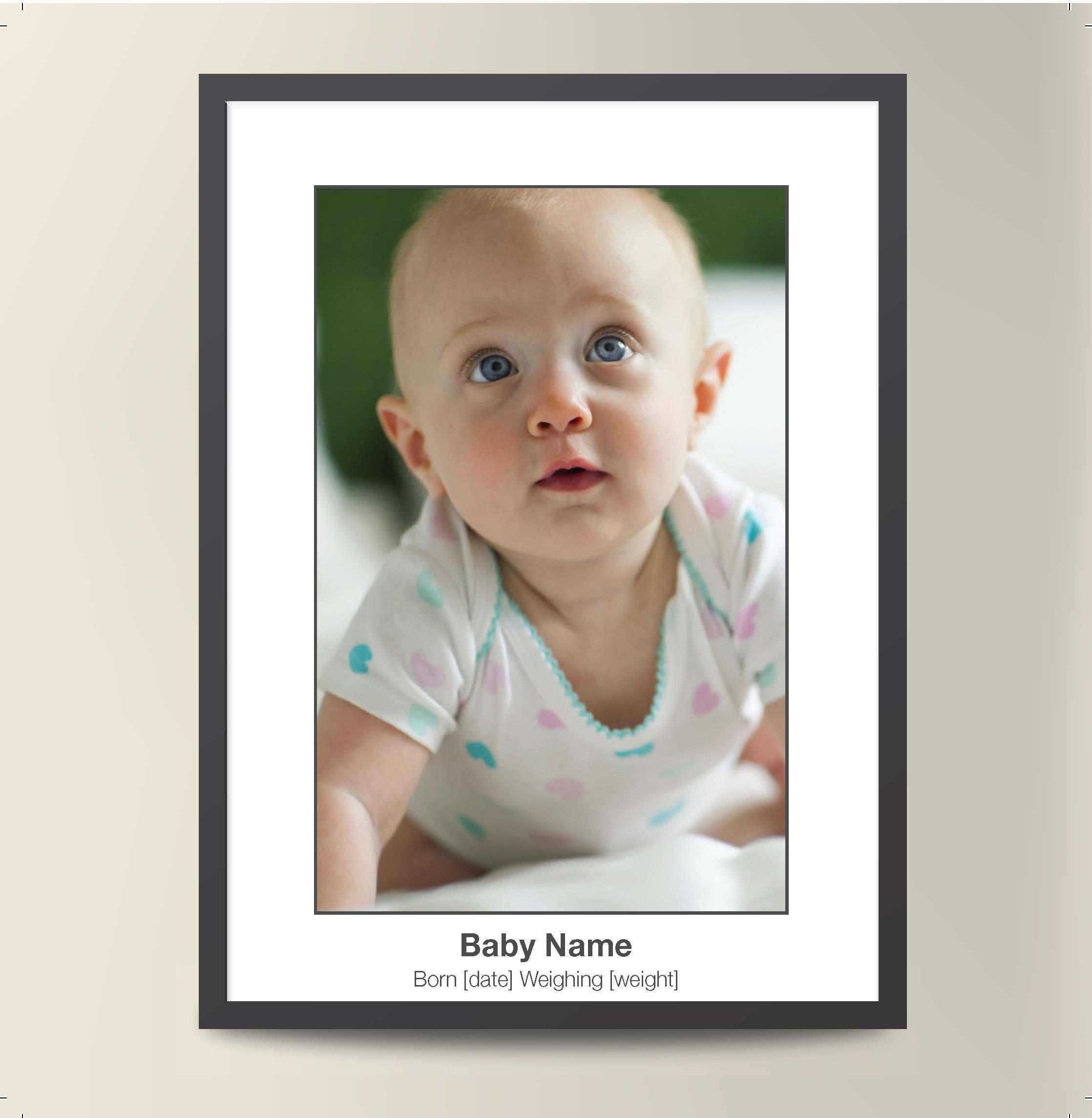 Tall Frame - Baby Card