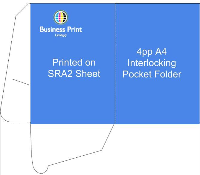 4pp A4 Interlocking Pocket Folder