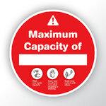 Maximum Capacity Red Sticker