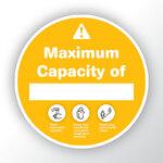 Maximum Capacity Yellow Sticker