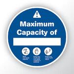 Maximum Capacity Blue Sticker