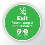 Exit Round Stickers