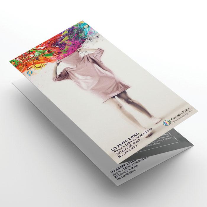 A4 Flyer Folded to 6 Page DL (z-fold)
